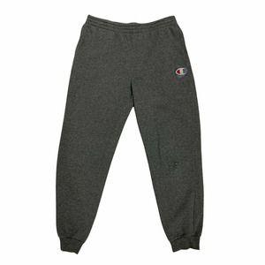 Champion Fleece Sweatpants Men's Size XL Gray Tapered Ankle Elastic Waist Tie *